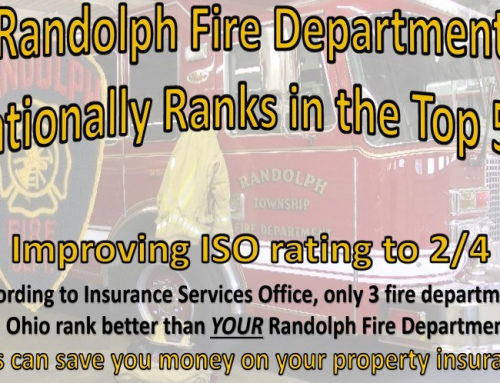 Randolph Fire Department ISO rating is a Class 2! Congratulations on this spectacular achievement!
